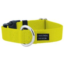 "1"" Yellow Nylon Dog Collar"