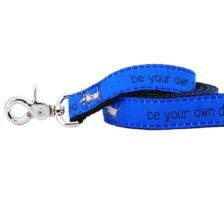 Teddy Be Your Own Dog Blue Leash