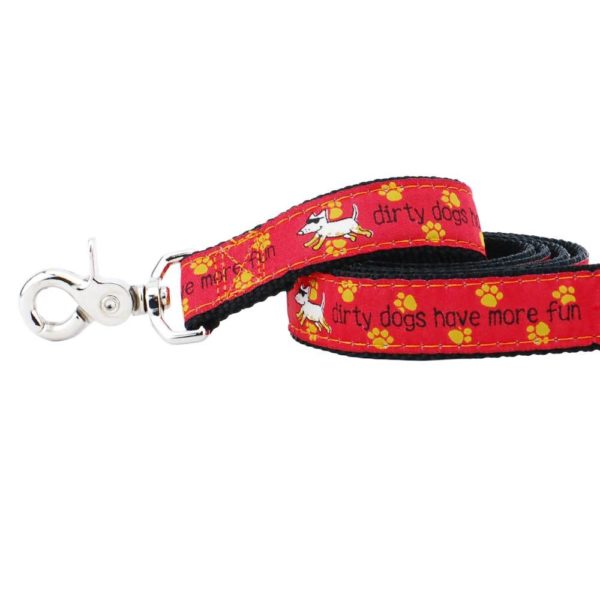Dirty Dogs Have More Fun Teddy The Dog 5ft Essential Leash