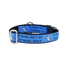 "1"" Friends Don't Let Friends Fetch Teddy The Dog Essential Collar"