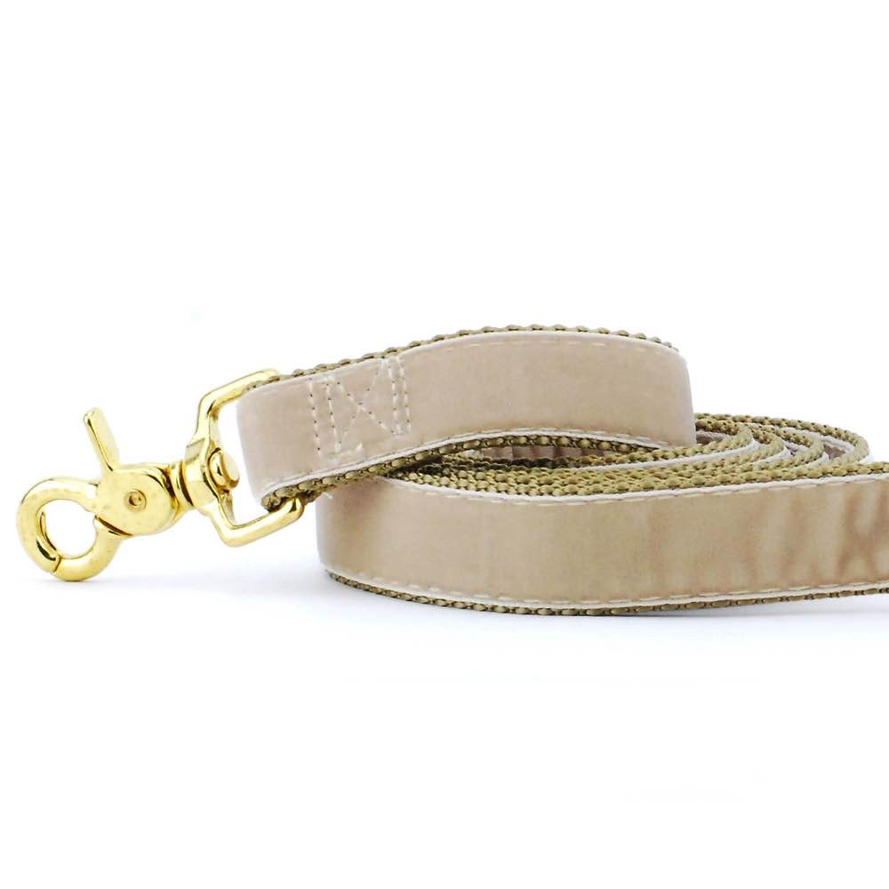 Tan Velvet Dog Leash