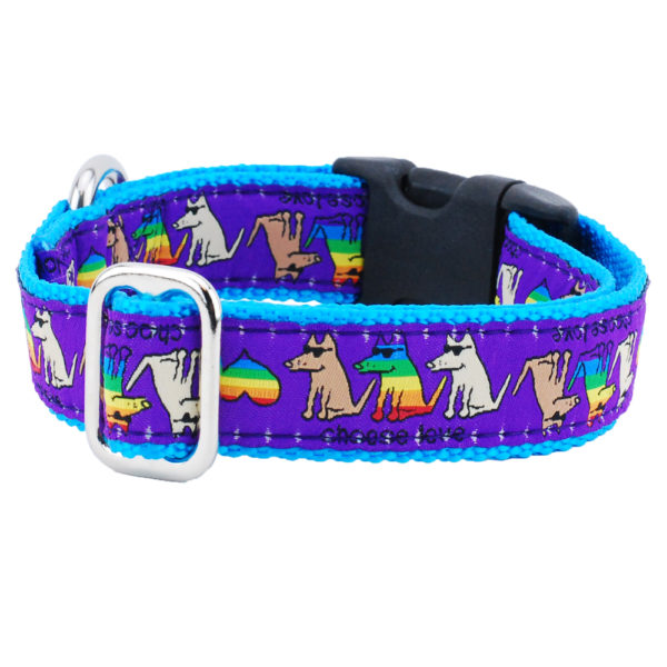 "1"" Choose Love Teddy The Dog Essential Collar"
