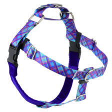 Blue Plaid Dog Harness