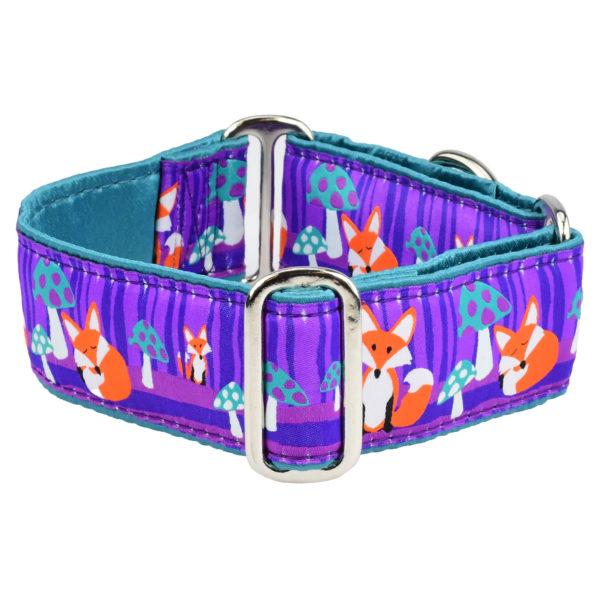 Twilight Foxes and Mushrooms Dog Collar